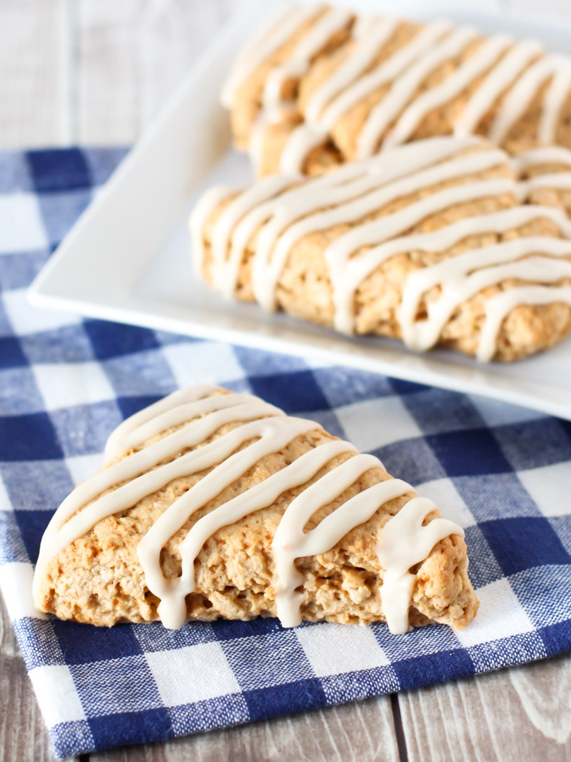 21 Days of Delicious, Nutritious Recipes for the 21-Day Dairy Free Challenge with So Delicious! Pictured: Gluten-Free Vegan Maple Oat Scones