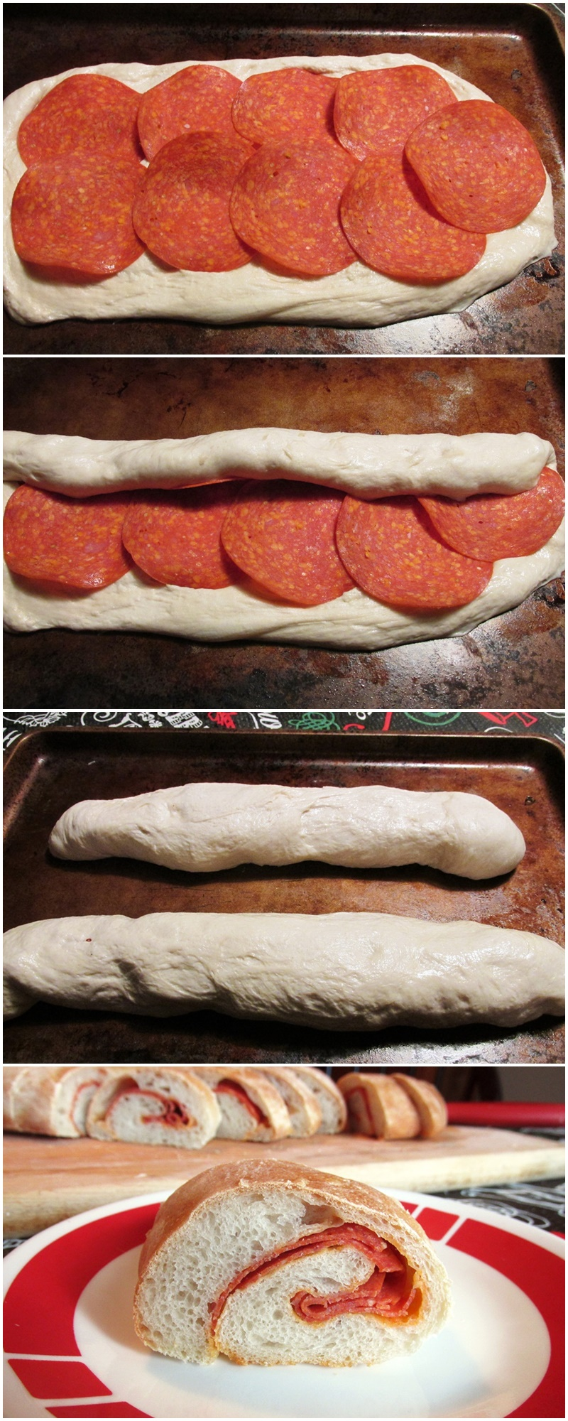 "Dairy Free Pepperoni Rolls Recipe - the pepperoni provides richness and ""cheesy"" flavor to the bread. Includes a vegan option."