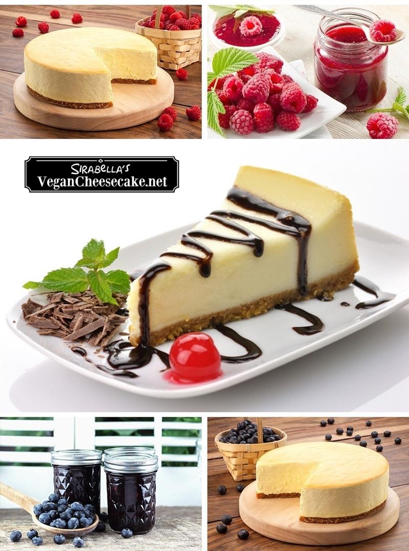 Sirabella's Vegan Cheesecake - pretty darn spot on for New York cheesecake, but dairy-free!
