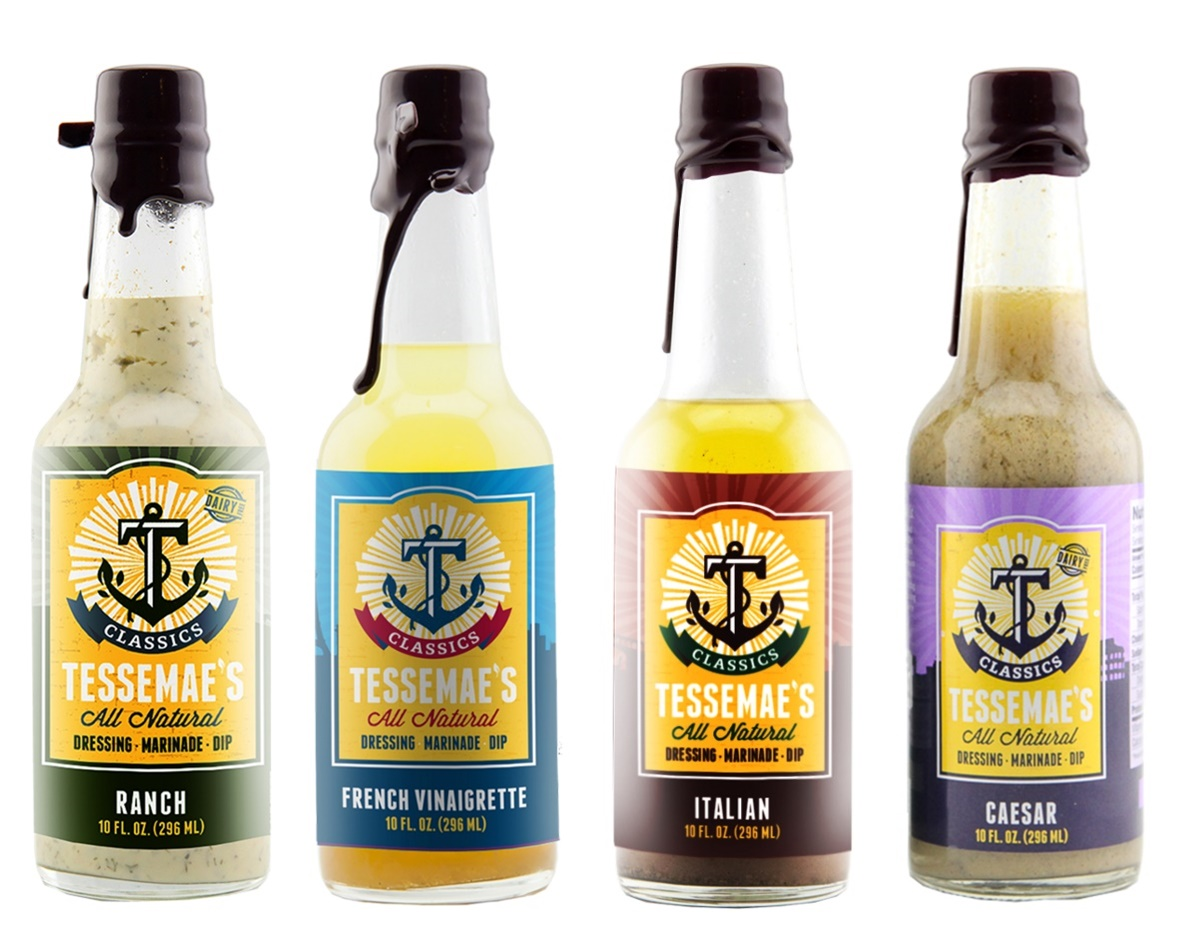 Tessemae's Classics Salad Dressings: Ranch, Caesar, French and Italian - all amazingly dairy-free, gluten-free, paleo, and healthy! But sooo flavorful.