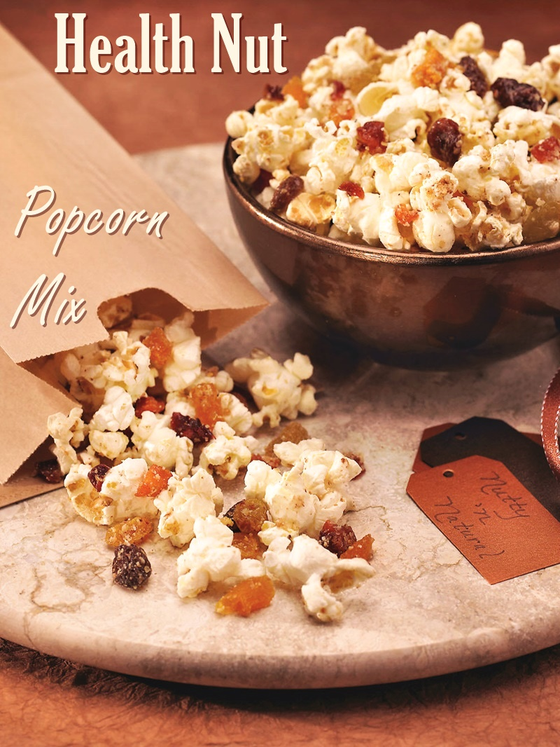 Healthy Nut Popcorn Mix Recipe - Vegan, optionally gluten-free