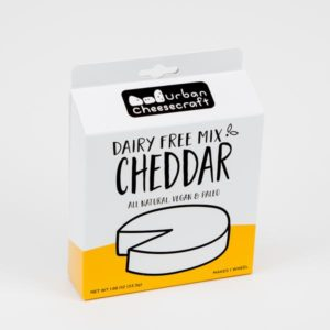 Urban Cheesecraft Dairy Free Mixes Reviews and Info. For making all types of vegan blocks, wheels, and sauces. Pictured: Cheddar