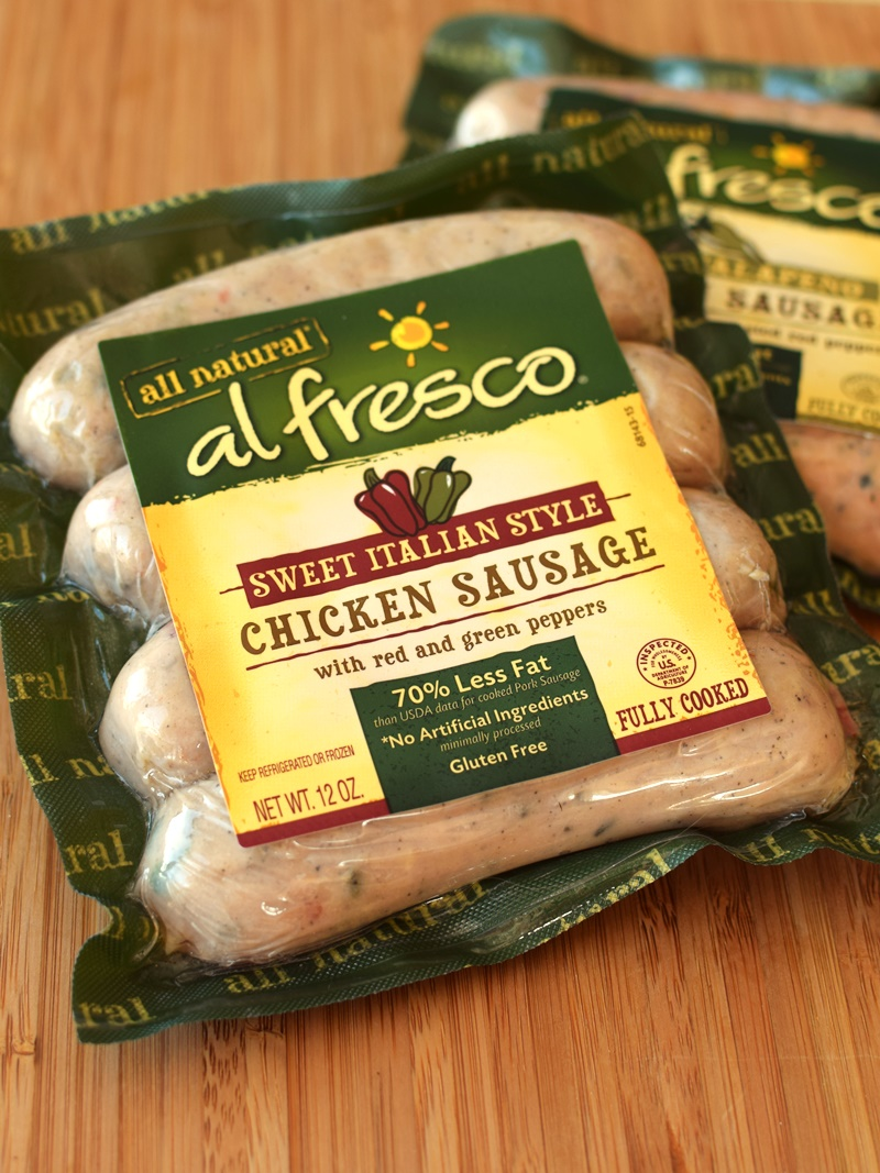 Al Fresco Sweet Italian-Style Chicken Sausage - fully-cooked, amazing flavor, gluten-free & dairy-free