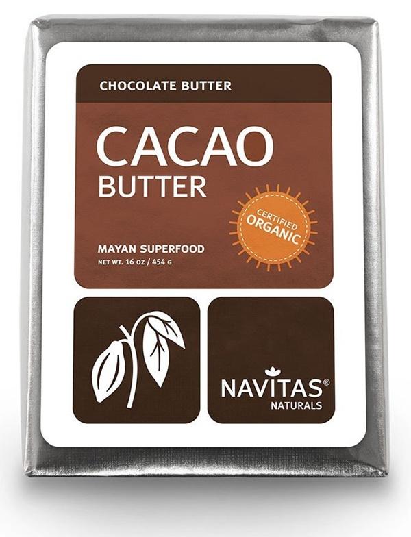 Navitas Naturals Organic Cacao Butter - used to make my homemade dairy-free white chocolate crispy bars!