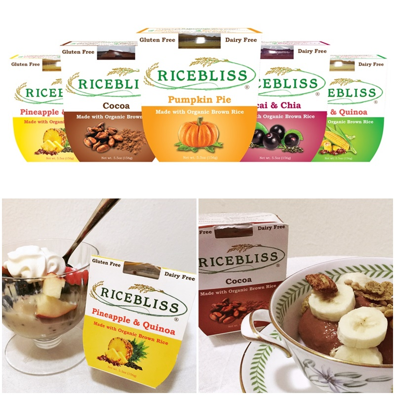 Ricebliss Wholesome Brown Rice Snack: Porridge meets Pudding (dairy-free, gluten-free, nutritious!)