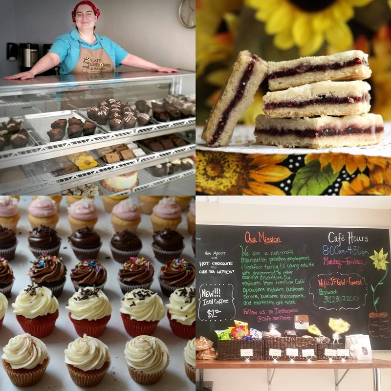 Sunflower Bakery in Gaithersburg, MD is a kosher pareve (dairy-free), non-profit cafe that trains people with disabilities while churning out delicious baked goods!