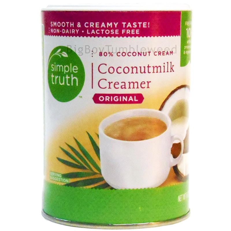 Guide to Dairy-Free Creamers - Simple Truth Coconutmilk Creamer Powder shown