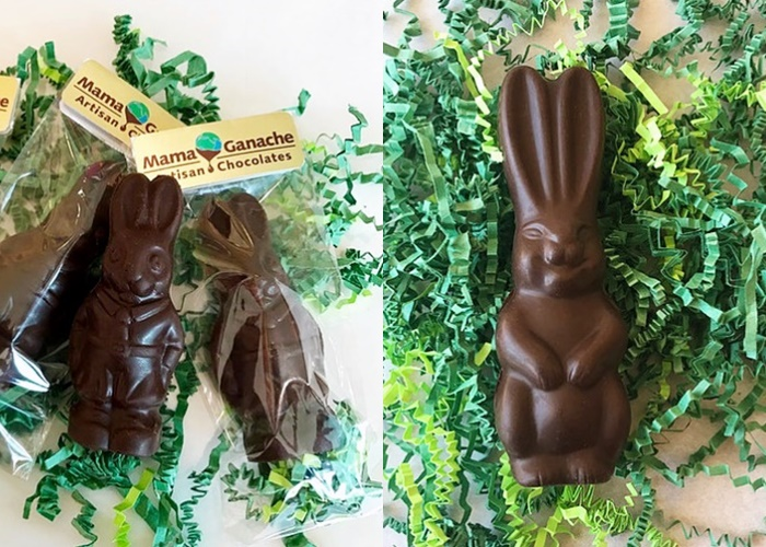 Dairy-Free Chocolate Easter Bunny Round-Up - Mama Ganache Vegan Varieties Pictured