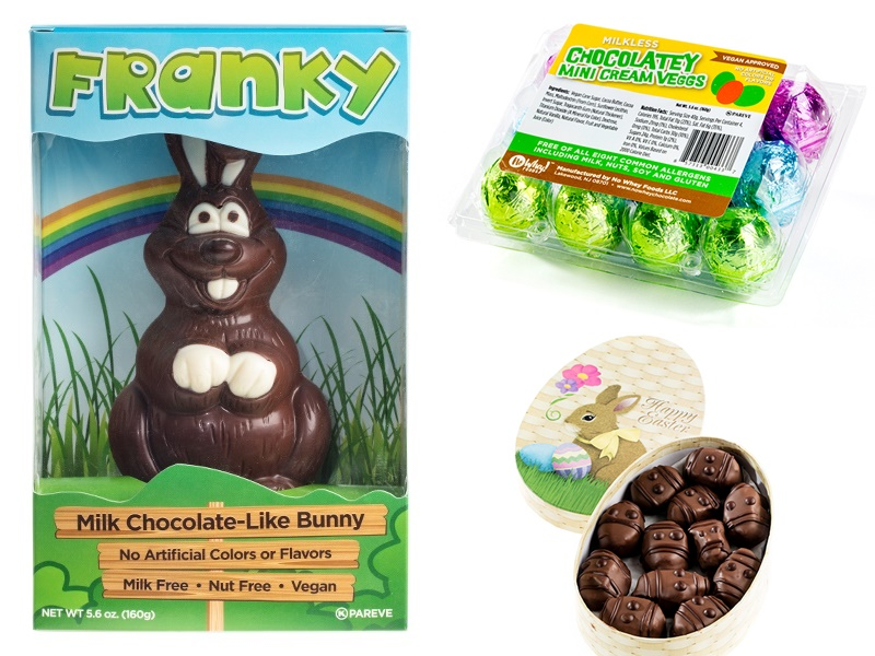 Dairy-Free Chocolate Easter Bunny Round-Up - No Whey Chocolates Pictured