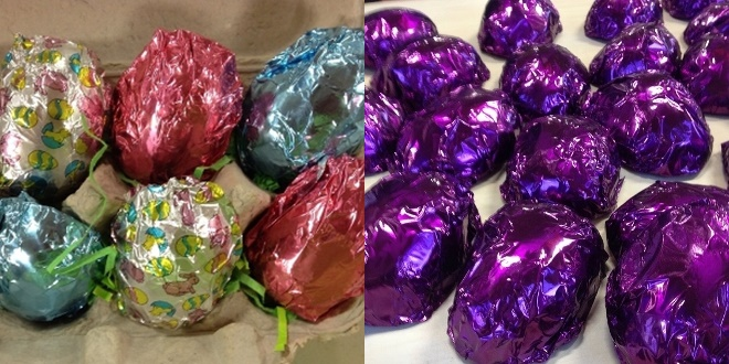 The BIG Dairy-Free Chocolate Easter Bunny and More Round-Up - Vegan Cadbury Cream Eggs pictured