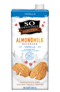 So Delicious Almondmilk Reviews and Info - comes in almond and almond-cashew varieties. All dairy-free and vegan, with shelf-stable and refrigerated options.
