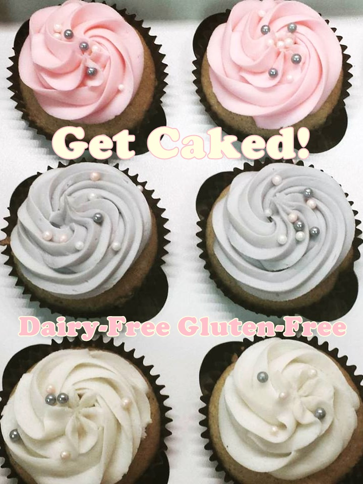 Get Caked Bakery in Rochester, NY caters to dairy-free, gluten-free, vegan and other dietary restrictions. Loads of amazing cupcakes including daily dairy-free selections.