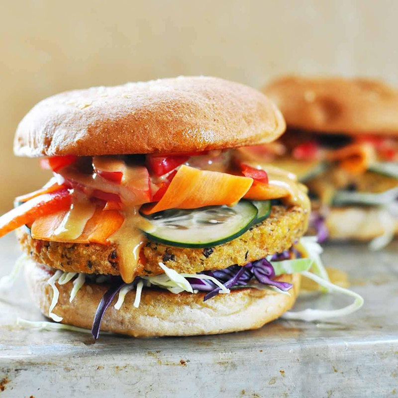 The Top New Dairy Free Products to Watch For: #8 - Hilary's Eat Well Veggie Burgers in New Global Flavors (all vegan and top allergen-free)