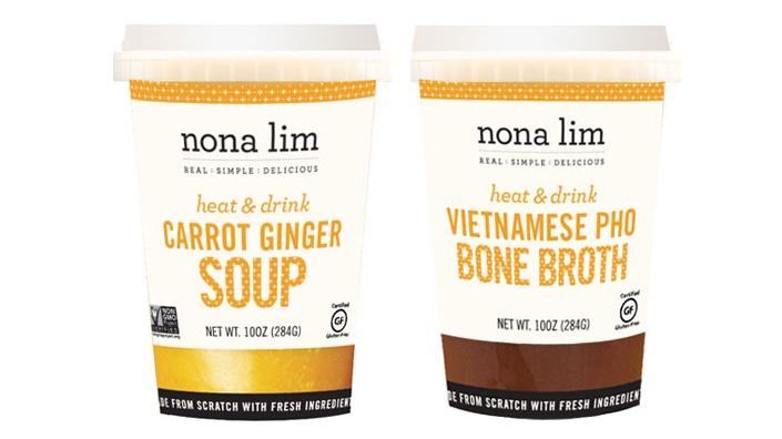 The Top New Dairy Free Products to Watch For: #7 - Nona Lim Soup Cups (all dairy-free with something for paleo people, vegans, and everyone in between)