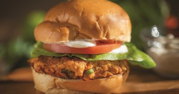 Cajun Salmon Burger with Lime Mayonnaise