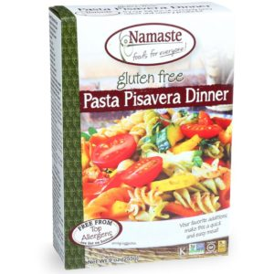 Namaste Pasta Dinners Reviews and Info - dairy-free, gluten-free, and top allergen-free convenience meals in a box. Pictured: Pasta Pisavera
