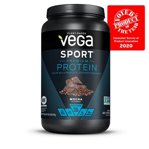 Vega Sport Protein Powders Reviews and Info - Dairy-Free, Soy-Free, Plant-Based - 30 grams of protein and 18 amino acids per serving. Also spiked with turmeric, black pepper, and tart cherry to fight inflammation.