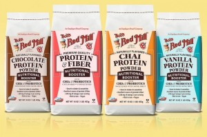 Bob's Red Mill Nutritional Booster Protein Powders - great dairy-free meal replacement powder option w/ high protein, high fiber, low sugars, probiotics, and prebiotics.