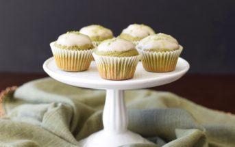 Matcha Latte Mini Muffins - warm, mild green tea flavor, soft cupcake-like crumb, but a pure whole wheat, dairy-free & vegan recipe.