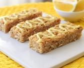 Iced Lemon Cookie Granola Bars (No Bake!)