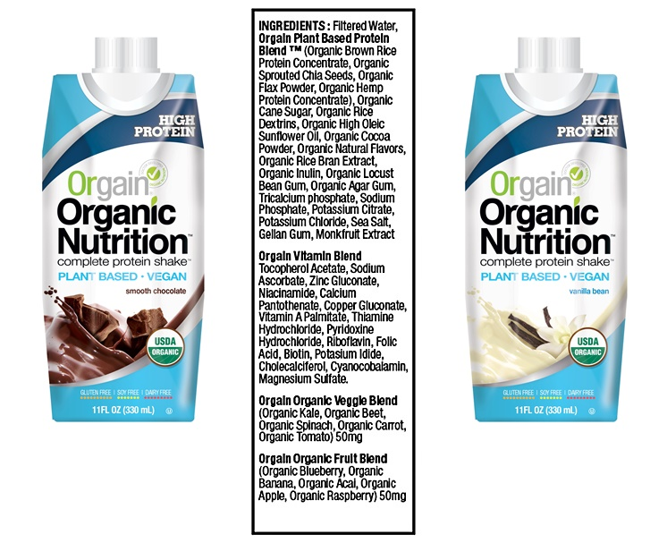 Orgain Organic Vegan Nutritional Shakes - high in dairy-free protein and enriched with vitamin, mineral, fruit and veggie blends
