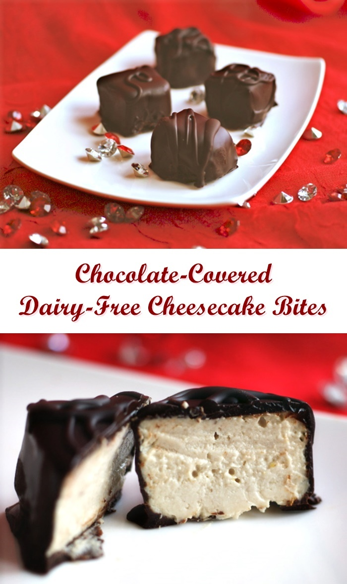 Chocolate-Covered Dairy Free Cheesecake Bites Recipe - vegan, gluten-free, soy-free and low-glycemic!