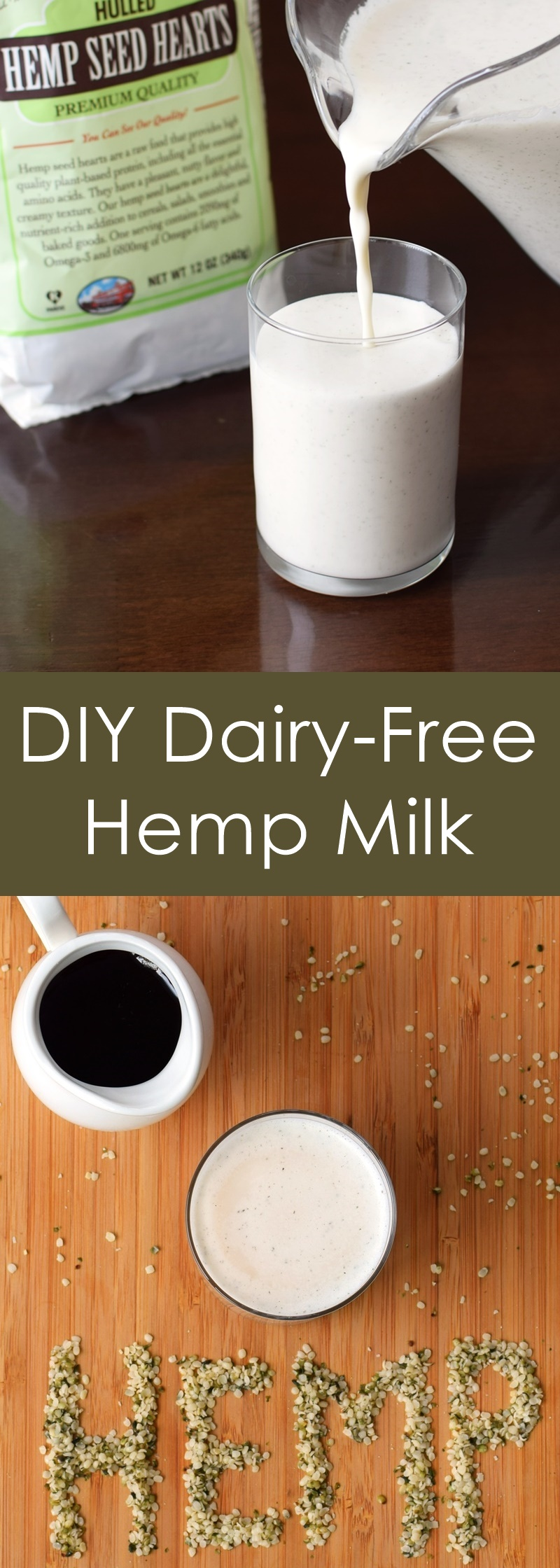DIY Dairy-Free Hemp Milk - healthy, homemade, easy, vegan & allergy-friendly recipe!