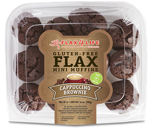 Flax4Life Flax Brownies Reviews and Information - Dairy-Free, Gluten-Free, Grain-Free, Nut-Free. Pictured: Cappuccino