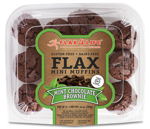 Flax4Life Flax Brownies Reviews and Information - Dairy-Free, Gluten-Free, Grain-Free, Nut-Free. Pictured: Mint