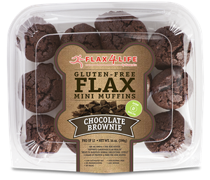 Flax4Life Flax Brownies Reviews and Information - Dairy-Free, Gluten-Free, Grain-Free, Nut-Free. Pictured: Original Chocolate