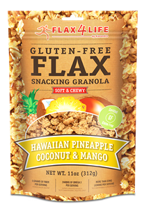 Flax4Life Flax Snacking Granola Review and Info - gluten-free, dairy-free, nut-free, and made in five flavors.