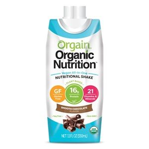 Orgain Organic Vegan Nutrition Shakes Reviews and Info - All in One Dairy-Fee Meal Replacements in Smooth Chocolate and Vanilla Bean (also soy-free, nut-free, and gluten-free)