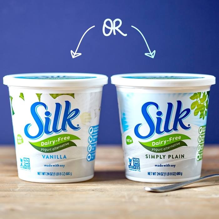Silk Dairy Free Yogurt Alternative: Move over Yoplait! This vegan cultured non-GMO soy offers sweet, creamy bliss. Several flavors, single-serve and select large tubs. See post for full review.