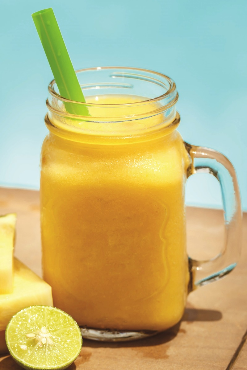 Nuts for Pineapple Smoothie Recipe - fresh pineapple and a double or triple dose of almonds for creamy dairy-free, vegan nutrition.