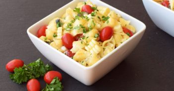 Creamy Dairy Free Ranch Pasta Salad Recipe (optionally vegan, soy-free & gluten-free)