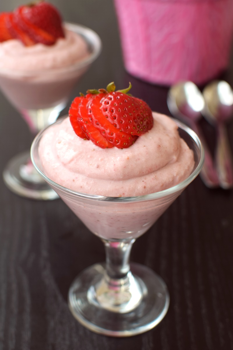 Vegan Strawberry Fool Recipe - deliciously easy dairy-free, soy-free, gluten-free dessert