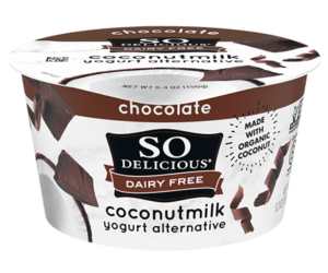 So Delicious Dairy Free Coconut Milk Yogurt Reviews and Information (Dairy-Free, Soy-Free, Gluten-Free, and Vegan). Pictured: Chocolate