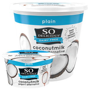 So Delicious Dairy Free Coconut Milk Yogurt Reviews and Information (Dairy-Free, Soy-Free, Gluten-Free, and Vegan). Pictured: Plain