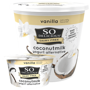 So Delicious Dairy Free Coconut Milk Yogurt Reviews and Information (Dairy-Free, Soy-Free, Gluten-Free, and Vegan). Pictured: Vanilla