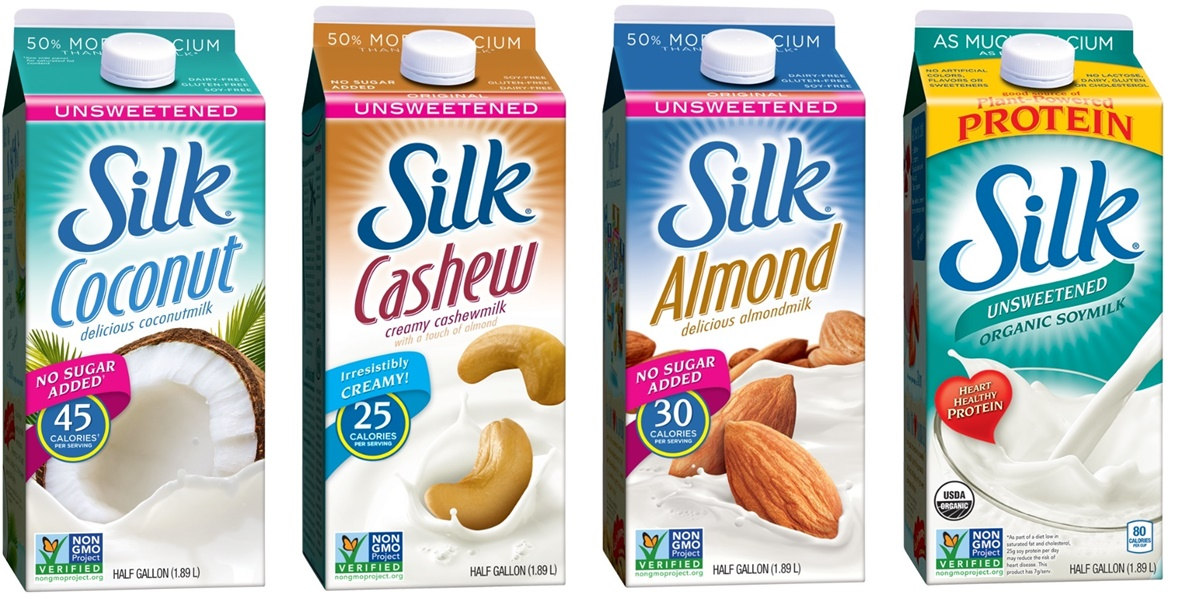 Silk Unsweetened Milk Beverages - use one to make our dairy free ranch pasta salad recipe!