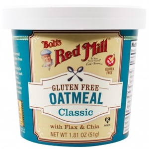 Bob's Red Mill Gluten Free Oatmeal Cups with Flax and Chia (all dairy-free, vegan, soy-free)