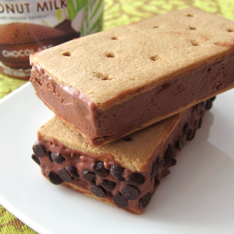 20 Dairy-Free Recipes Using Chocolate Ice Cream (Easy Everyday Chocolate Ice Cream Sandwiches pictured)