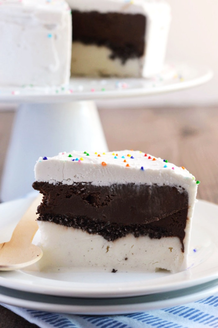 20 Dairy-Free Recipes Using Chocolate Ice Cream (Ultimate Dairy Free Freezer Cake pictured)