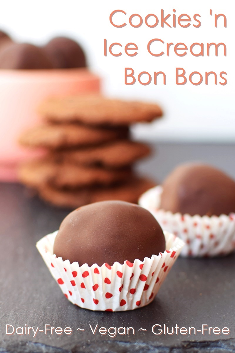 Cookies 'n Ice Cream Bon Bons Recipe - easy, fun, delicious, gluten-free, dairy-free, vegan & allergy-friendly!