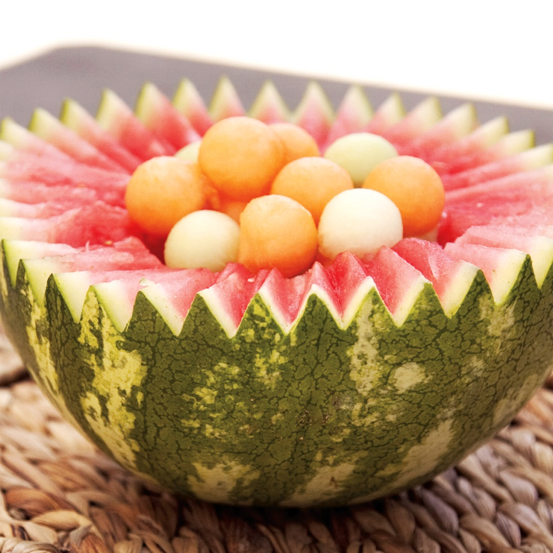 Simple Mixed Melon Ball Salad - a picinic, potluck or barbecue healthy treat for all!
