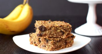 Super Cinnamon Raisin Banana Oat Bars Recipe - healthy, gluten-free, dairy-free and created for my dad!