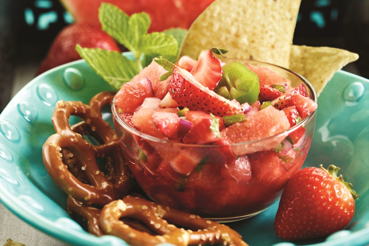 Strawberry Mint Watermelon Salsa Recipe