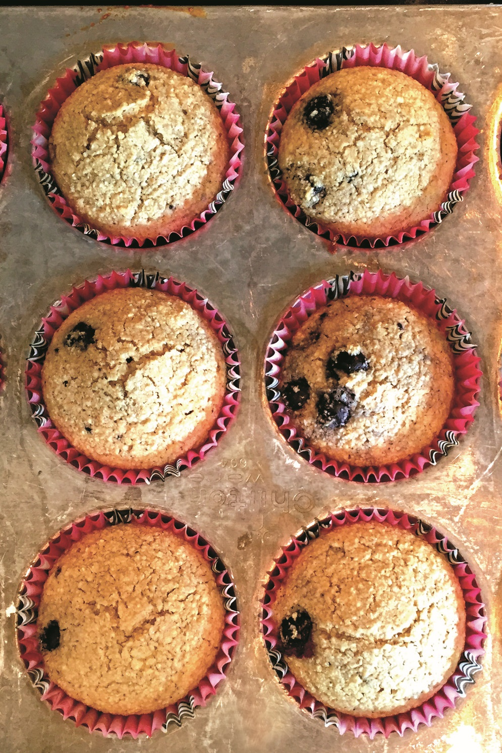 Blueberry Oat Bran Muffins Recipe - naturally gluten-free, dairy-free and low fat