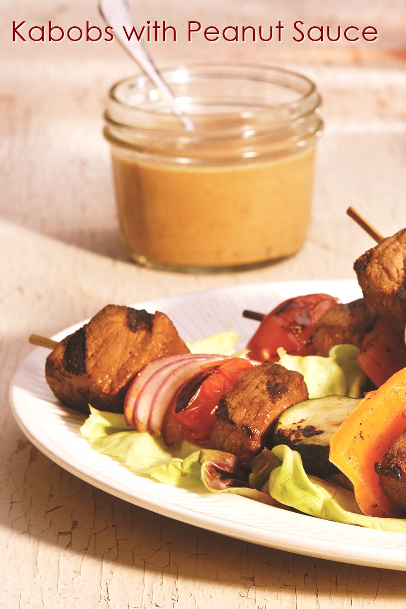 Beef Kabobs with Peanut Sauce