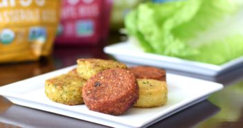 Hilary's Veggie Bites - slider-sized versions of their burgers; still vegan, gluten-free, top allergen-free, organic and healthy.